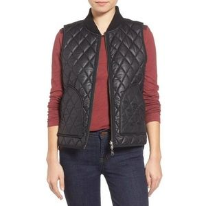 Madewell quilted reversible vest black plaid L